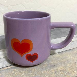 Starbucks Purple with Red Hearts 12oz Mug